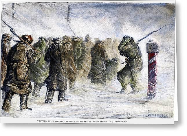 Bayonet Greeting Cards - Russia: Siberia, 1882 Greeting Card by Granger