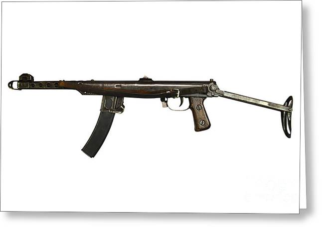 Copy Machine Greeting Cards - Russian Pps-43 Submachine Gun Greeting Card by Andrew Chittock