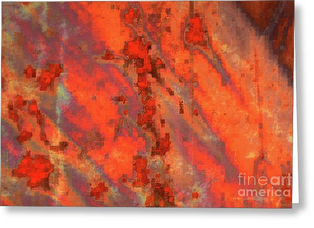 Metal Art Greeting Cards - Rust Abstract Greeting Card by Carol Groenen