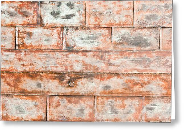 Brown Building Greeting Cards - Rusty metal Greeting Card by Tom Gowanlock