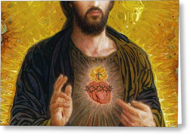 Sacred Heart of Jesus Greeting Card by Smith Catholic Art
