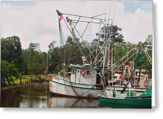 Crimson Tide Greeting Cards - Safe Harbor Lil Arthur Greeting Card by Michael Thomas