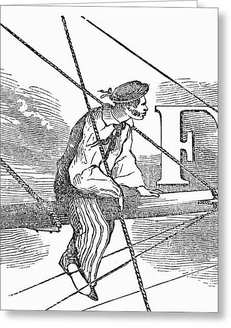 Engraving Greeting Cards - SAILOR, 19th CENTURY Greeting Card by Granger