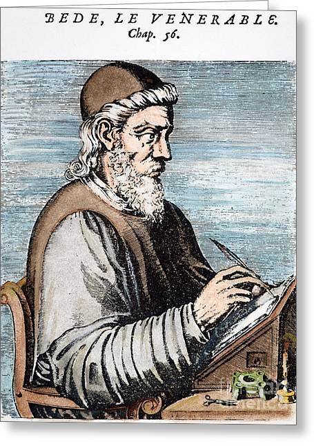 7th Century Greeting Cards - SAINT BEDE (c672-735) Greeting Card by Granger