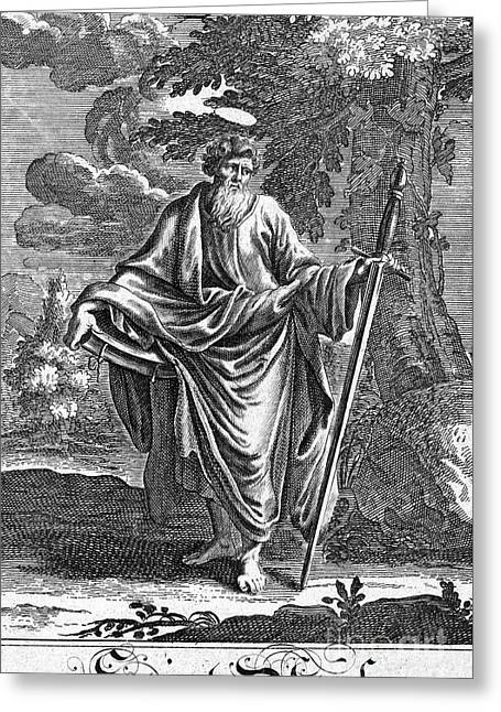 Early Christianity Greeting Cards - SAINT PAUL (d. 67 A.D.) Greeting Card by Granger