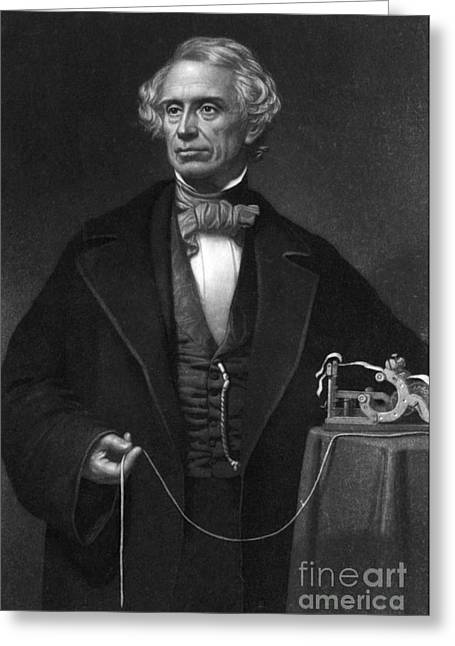 Electrical Engineer Greeting Cards - Samuel Morse, American Inventor Greeting Card by Science Source