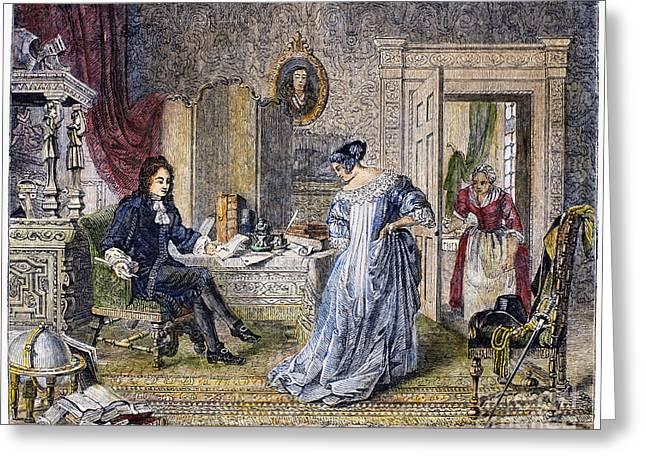 Pepys Greeting Cards - Samuel Pepys (1633-1703) Greeting Card by Granger
