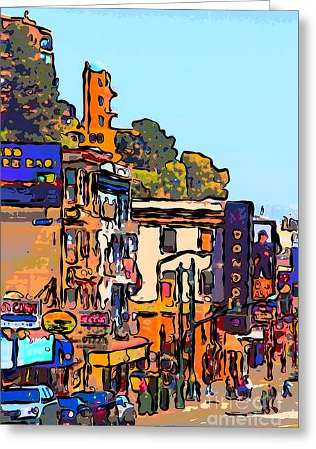 Chinese Shop Greeting Cards - San Francisco Broadway Greeting Card by Wingsdomain Art and Photography