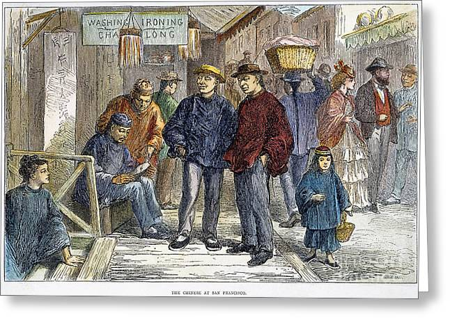 1870s Greeting Cards - San Francisco: Chinatown Greeting Card by Granger