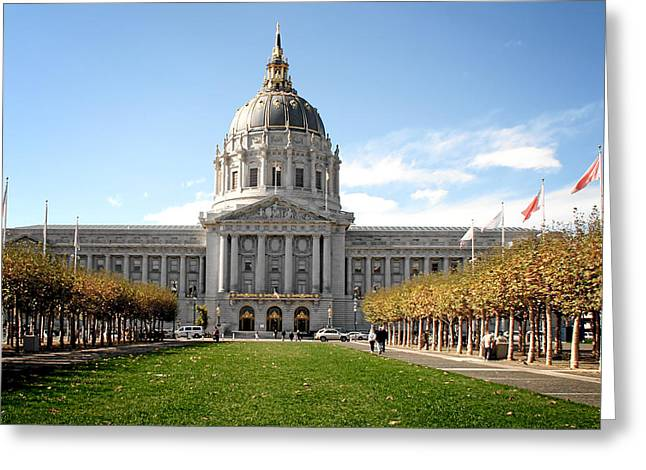 Historical Buildings Greeting Cards - San Francisco City Hall - Beaux Arts at its best Greeting Card by Christine Till