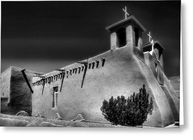 Taos Greeting Cards - San Francisco de Asis Church IV Greeting Card by Steven Ainsworth