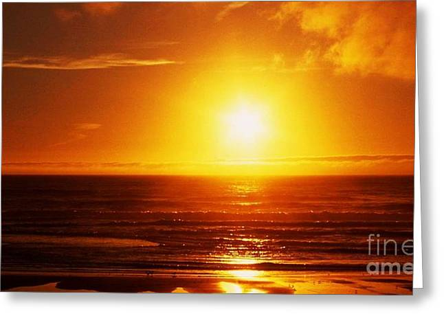 San Francisco Sunset Greeting Card by Antaeus Schumpert