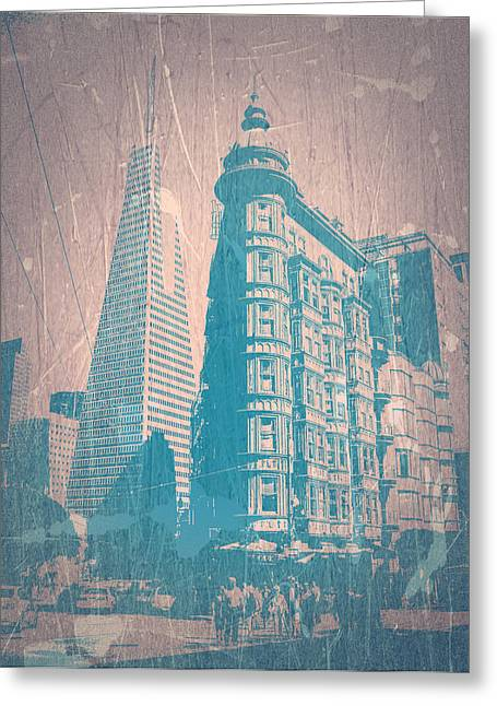 Beautiful Cities Greeting Cards - San Fransisco Greeting Card by Naxart Studio