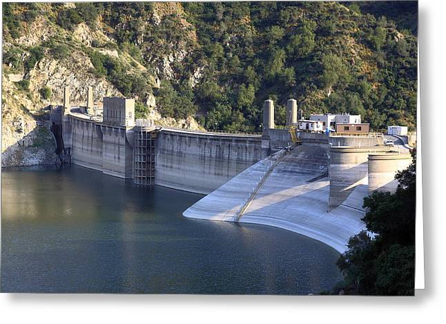 San Gabriel Dam Greeting Card by Viktor Savchenko