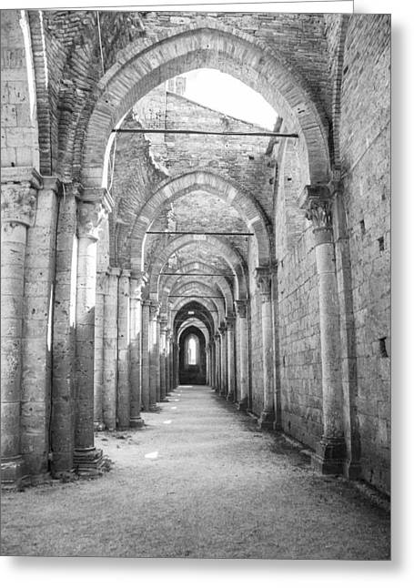 San Galgano Abbey Greeting Card by Ralf Kaiser
