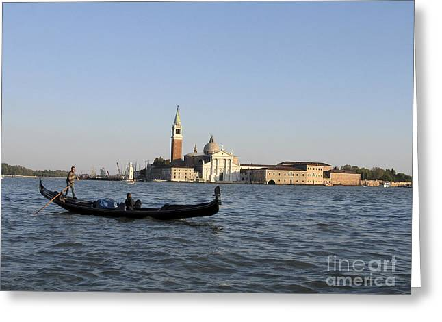 Gondolier Greeting Cards - San Giorgio Maggiore Greeting Card by Bernard Jaubert