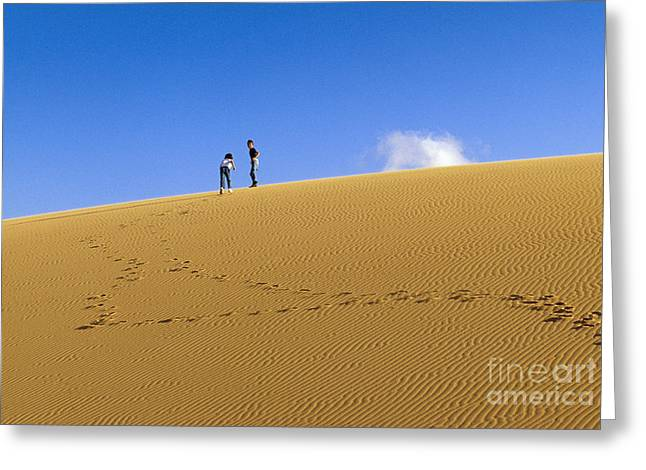 Two Persons Greeting Cards - Sand Dunes Greeting Card by Juan  Silva