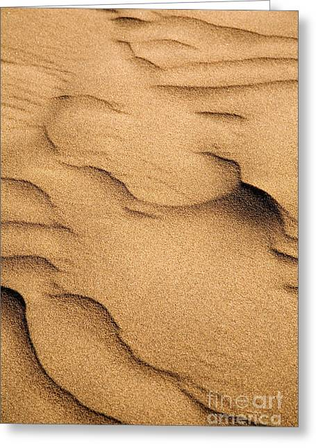 Sand Pattern Greeting Cards - Sand dunes Greeting Card by Kati Molin