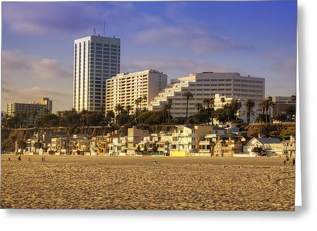 Pacific Ocean Prints Greeting Cards - Santa Monica Greeting Card by Ricky Barnard