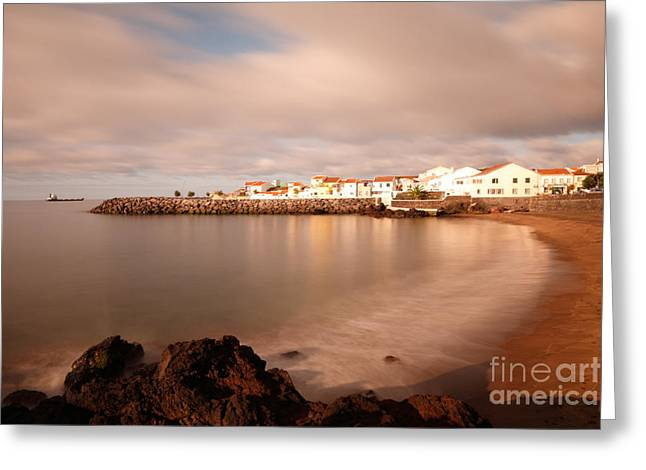 Village By The Sea Greeting Cards - Sao Roque at sunrise Greeting Card by Gaspar Avila