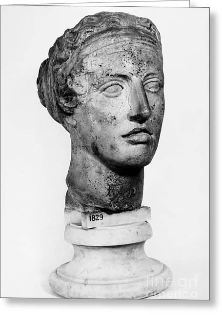 Woman Head Sculpture Greeting Cards - SAPPHO (fl. c600 B.C.) Greeting Card by Granger