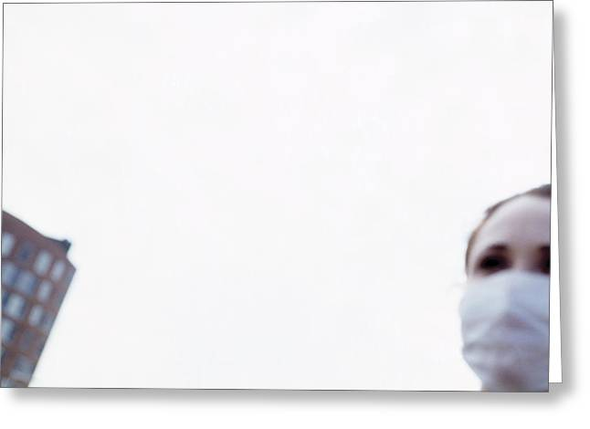 Sar Greeting Cards - Sars Protection Face Mask Greeting Card by Cristina Pedrazzini