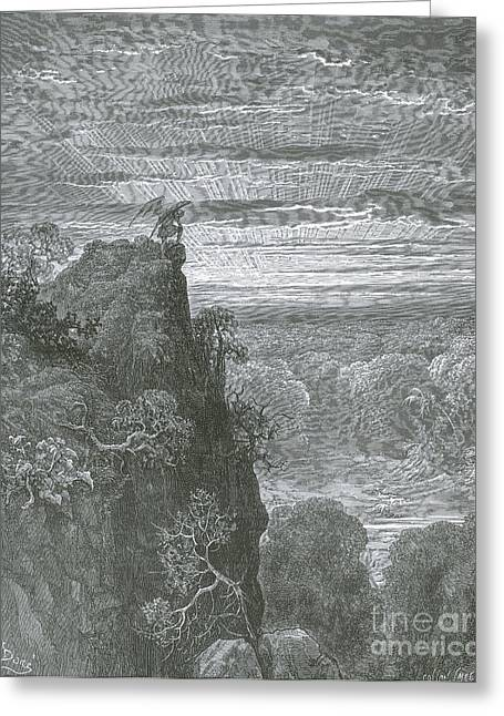 Satan, By Dore Greeting Card by Photo Researchers