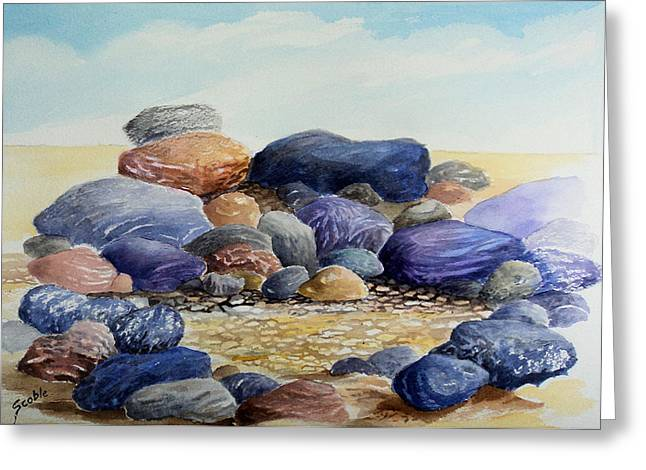 Shoreline Greeting Cards - Sauble Pebbles Greeting Card by Merv Scoble