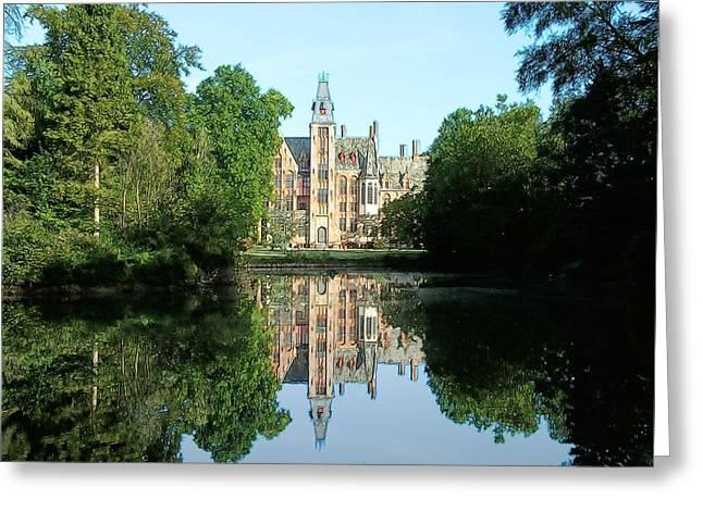 Schloss Loppem Loppem Belgium Greeting Card by Joseph Hendrix