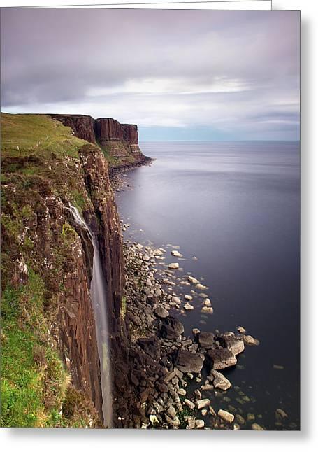Scotland Greeting Cards - Scotland Kilt Rock Greeting Card by Nina Papiorek