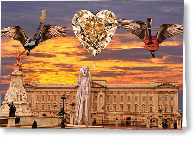 Buckingham Palace Digital Greeting Cards - Scream Queen Greeting Card by Eric Kempson