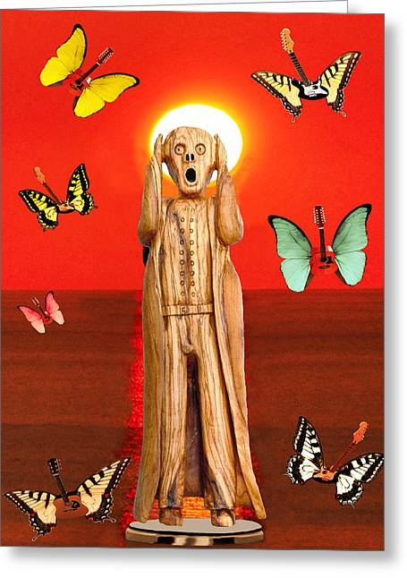 Scream World Tour Greeting Cards - Scream Rock Greeting Card by Eric Kempson