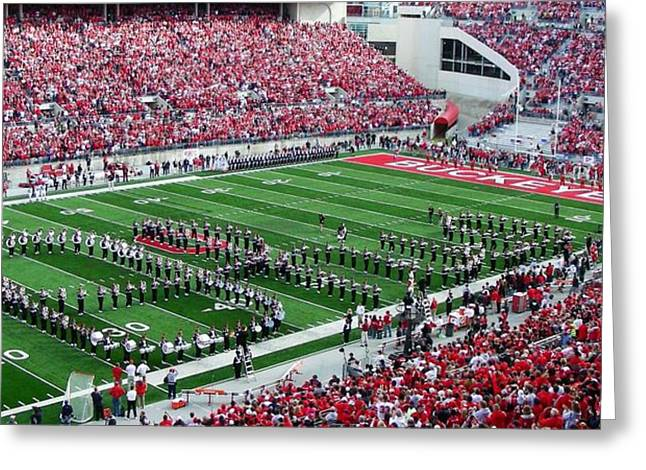 Footballs Greeting Cards - Script Ohio Greeting Card by Peter  McIntosh