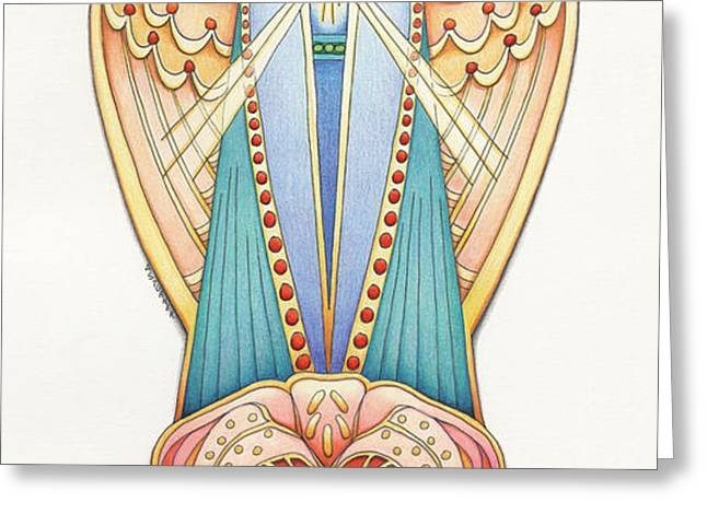 Scroll Angels - Lillium Greeting Card by Amy S Turner