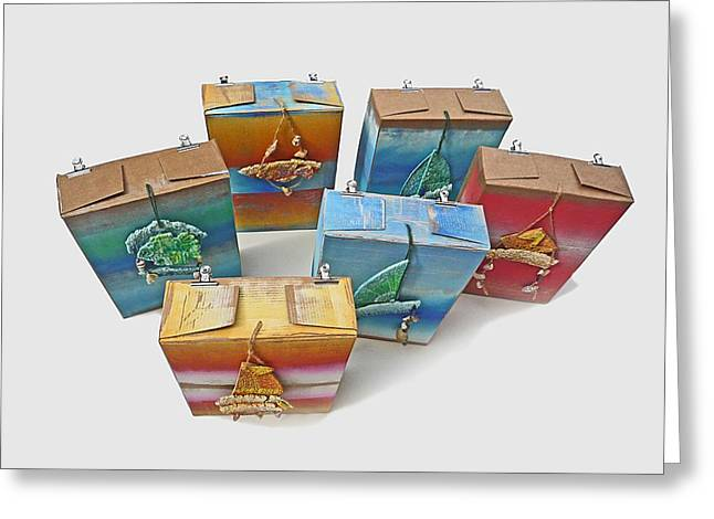 Rope Sculptures Greeting Cards - Sea Boxes Greeting Card by Charles Stuart