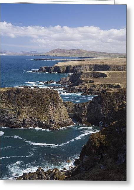 Mullet Greeting Cards - Sea Cliffs And Coastline Near Erris Greeting Card by Gareth McCormack
