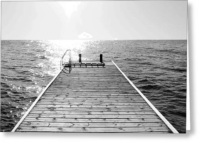 Sea Jetty Greeting Card by Smallfort Photography Collection