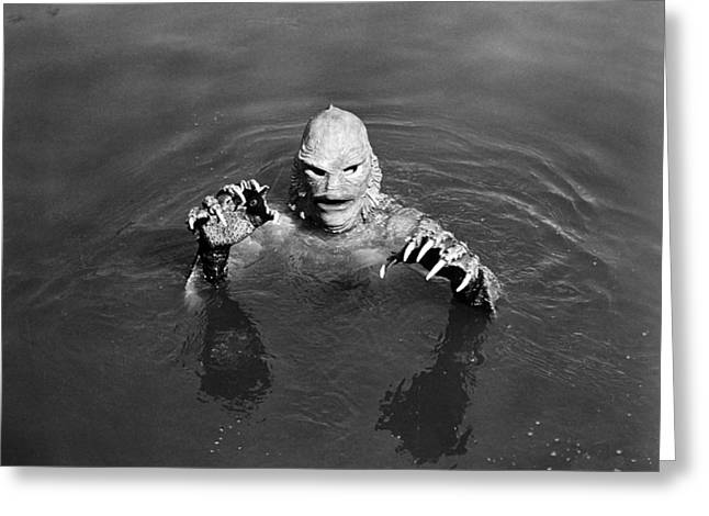 Ricou Greeting Cards - Sea Monster,  1953 Greeting Card by Granger