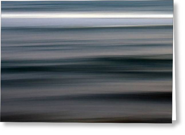Abstract Waves Greeting Cards - Sea Greeting Card by Stylianos Kleanthous