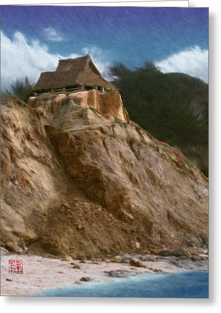 Recently Sold -  - Half Moon Bay Greeting Cards - Seacliff House Greeting Card by Geoffrey C Lewis