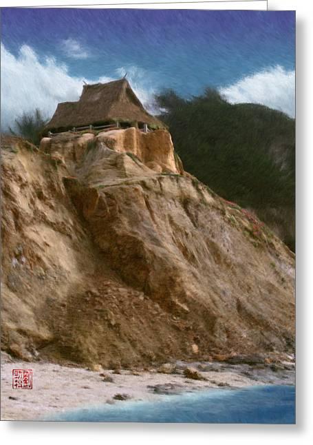 Best Sellers -  - Half Moon Bay Greeting Cards - Seacliff House Greeting Card by Geoffrey C Lewis