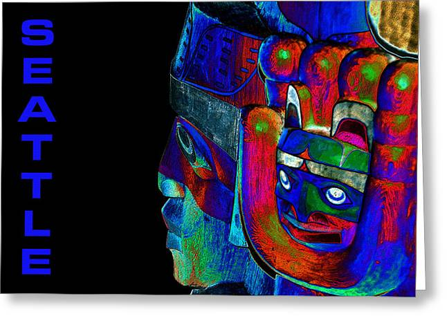 Northwestern Indian Greeting Cards - Seattle Greeting Card by David Lee Thompson