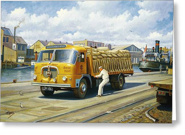 Art Sale Greeting Cards - Seddon at Poole docks. Greeting Card by Mike  Jeffries