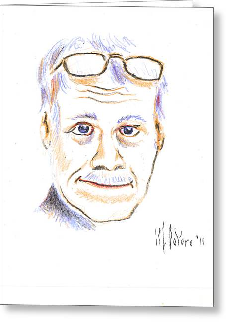 Self-portrait Greeting Cards - Self-Portrait Greeting Card by Kip DeVore