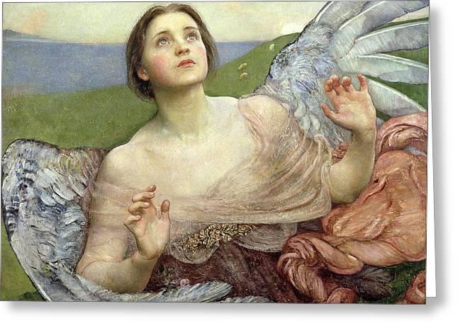 Sense of Sight Greeting Card by Annie Louisa Swinnerton
