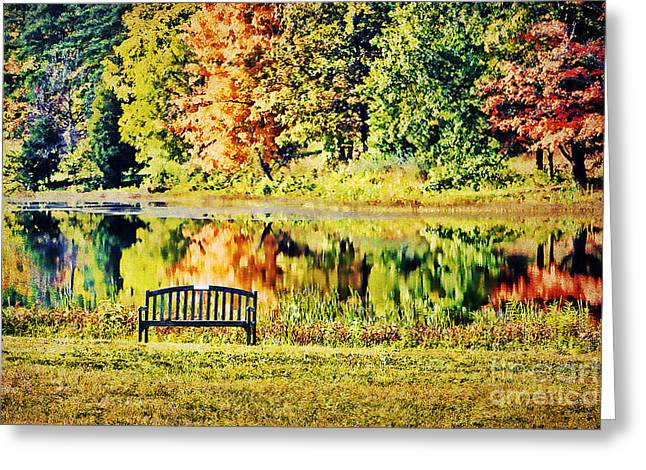 Lawn Chair Greeting Cards - Serenity Greeting Card by Darren Fisher