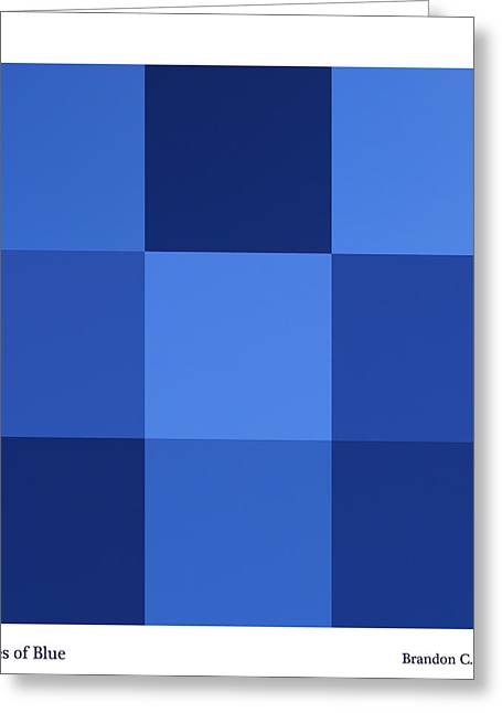 Brandon Smith Greeting Cards - Shades of Blue Greeting Card by Brandon Smith