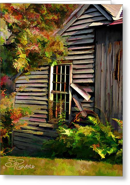 Sheds Digital Art Greeting Cards - Shed Greeting Card by Suni Roveto