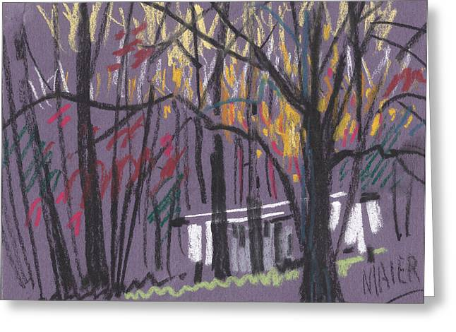 Sheds Greeting Card by Donald Maier