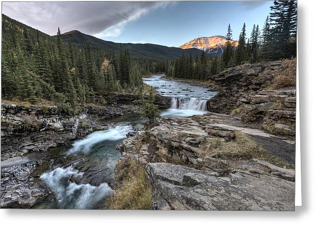 Alberta Water Falls Greeting Cards - Sheep River Falls Allberta Greeting Card by Mark Duffy